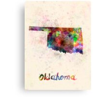 Oklahoma US state in watercolor Canvas Print