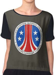 United States Colonial Marine Corps Insignia - Aliens - Dirty Chiffon Top