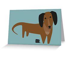 Dackel Greeting Card