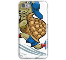Running Turtle in sporting shoes and hat.  iPhone Case/Skin