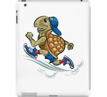 Running Turtle in sporting shoes and hat.  iPad Case/Skin
