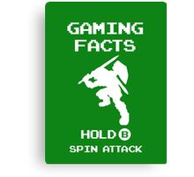 Gaming Facts Spin Attack Canvas Print