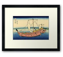 The Kazusa sea route - Hokusai - Views of Mount Fuji Print Framed Print