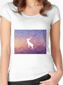 Oh Deer Purple Mountains Women's Fitted Scoop T-Shirt