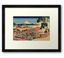 The Tea plantation - Hokusai - Views of Mount Fuji Print Framed Print