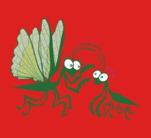 A couple of praying mantises dangerously falling in love One Piece - Long Sleeve