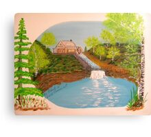 The Old Mill and Falls Canvas Print