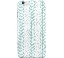 Simple leaf blue seamless pattern iPhone Case/Skin