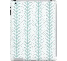 Simple leaf blue seamless pattern iPad Case/Skin