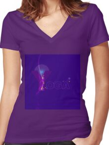 yoga style Women's Fitted V-Neck T-Shirt