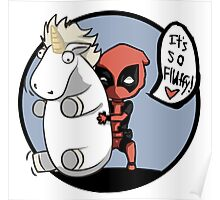 Deadpool and the unicorn Poster