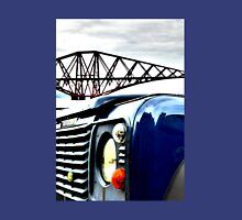 SUV in front of Forth Rail Bridge Unisex T-Shirt