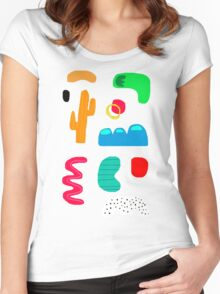 Toes in the desert Women's Fitted Scoop T-Shirt