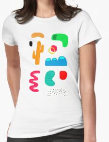 Toes in the desert Womens Fitted T-Shirt