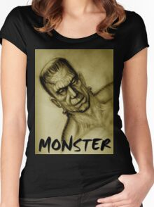 frankenstein monster Women's Fitted Scoop T-Shirt