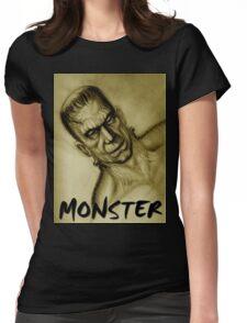 frankenstein monster Womens Fitted T-Shirt