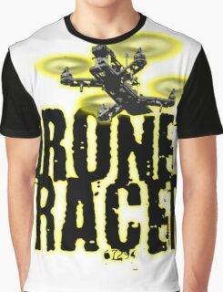 Drone Racer (Yellow) Graphic T-Shirt