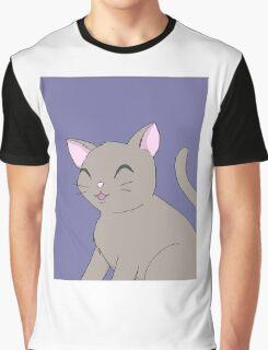Happy Kitty Graphic T-Shirt