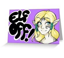 Races- Elf Off! Greeting Card