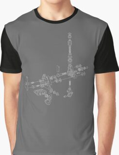 Exploded Delta Parts - White Graphic T-Shirt