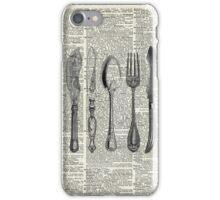 Vintage Cutlery Set,Spoon,Fork,Knife,Antique Dinning,Old-Fashioned iPhone Case/Skin