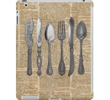 Vintage Cutlery Set,Spoon,Fork,Knife,Antique Dinning,Old-Fashioned iPad Case/Skin