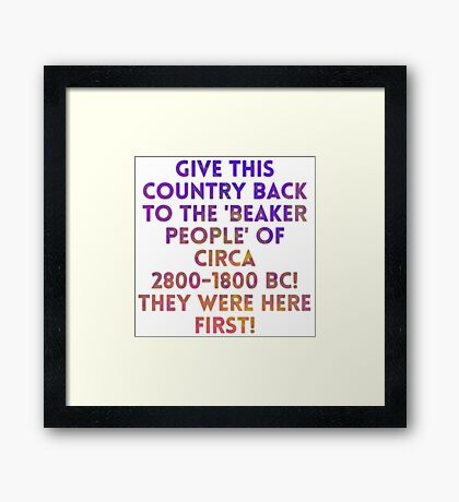 Beaker People Framed Print