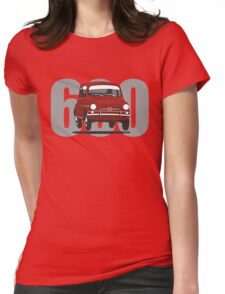 Fiat 600 red Womens Fitted T-Shirt