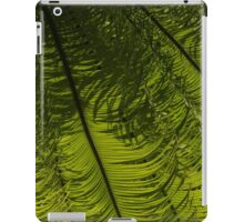 Tropical Green Rhythms - Feathery Fern Fronds - Horizontal View Down Right iPad Case/Skin