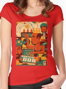 THE ROOTS OF DUB ( GIFT ) Women's Fitted Scoop T-Shirt