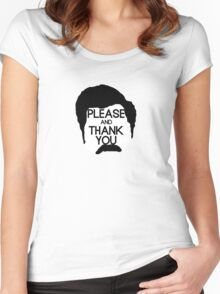 Ron Swanson - Please and thank you Women's Fitted Scoop T-Shirt