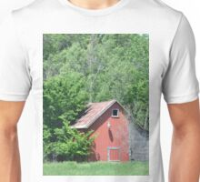 Red Lean Two Barn Unisex T-Shirt