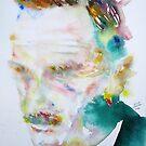 THOMAS MANN - watercolor portrait by lautir