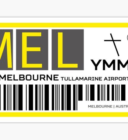 Destination Melbourne Airport Sticker