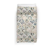 Art Deco Marble Tiles in Soft Pastels Duvet Cover