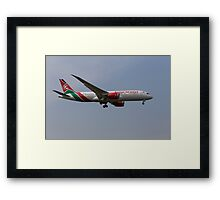 Kenya Airways Boeing 787 Framed Print
