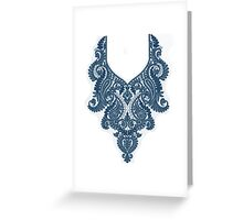embroidery design Greeting Card