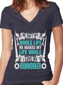 ironworker Women's Fitted V-Neck T-Shirt