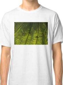 Tropical Green Rhythms - Feathery Fern Fronds - Horizontal View Down Left Classic T-Shirt
