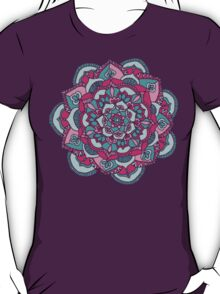Hot Pink & Teal Mandala Flower T-Shirt