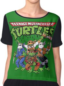 Killer Turtles Chiffon Top