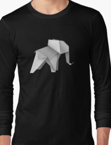 origami made little elephant Long Sleeve T-Shirt