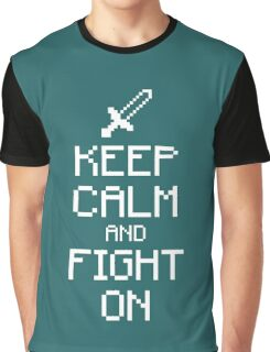 Keep calm and fight on (white) Graphic T-Shirt