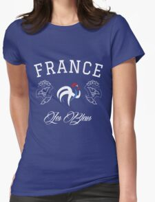 FRANCE NATIONAL TEAM FOOTBALL T-SHIRT Womens Fitted T-Shirt