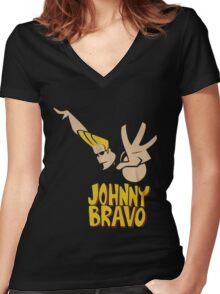 Johny Bravo Women's Fitted V-Neck T-Shirt
