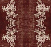 Vintage Lace Rug Design Sticker