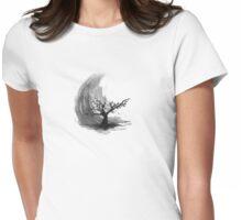 Sumi e sakura tree Womens Fitted T-Shirt