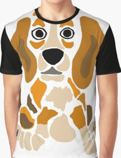 Cool Funny Funky Beagle Puppy Abstract Art Graphic T-Shirt