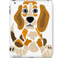 Cool Funny Funky Beagle Puppy Abstract Art iPad Case/Skin
