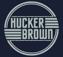 Hucker Brown - retro blue logo Kids Tee